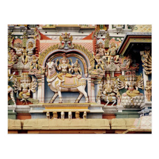Relief depicting Shiva and Parvati riding Postcard