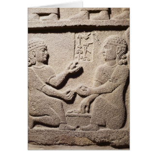 Relief depicting the son of King Araras Card