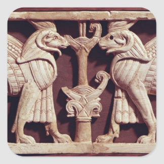 Relief depicting two griffons, from Arslan Tash Square Sticker