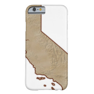 Relief Map of California Barely There iPhone 6 Case