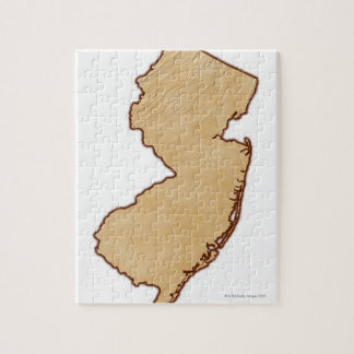 Relief Map of New Jersey Jigsaw Puzzle