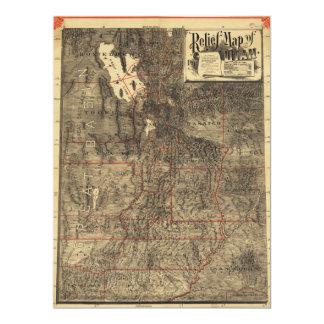 Relief Map of Utah (1895) Card