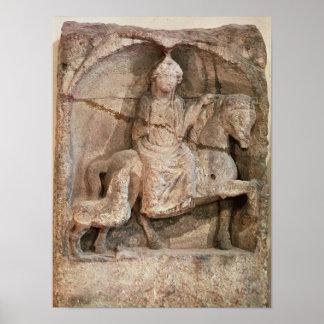 Relief representing Epona, Gaulish goddess Poster