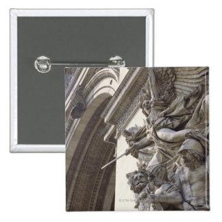 Relief sculpture on Arc de Triomphe in Paris, 2 Inch Square Button