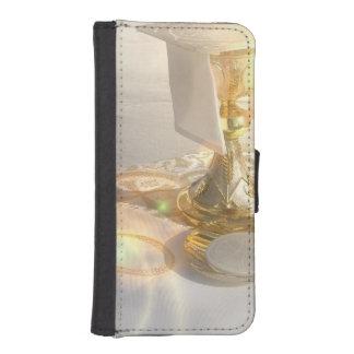 religion-11 coque avec portefeuille pour iPhone 5