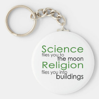 Religion and Science Basic Round Button Keychain