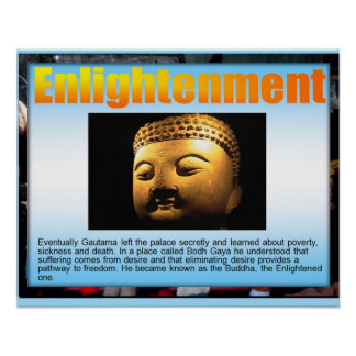 Religion,  Buddhism, Enlightenment Poster