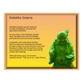 Religion, Buddhism, Siddartta Gotama Postcard