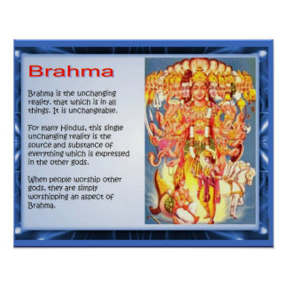 Religion, Hinduism, gods, Brahma Poster