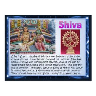 Religion, Indian Hindu Gods, Shiva Postcard