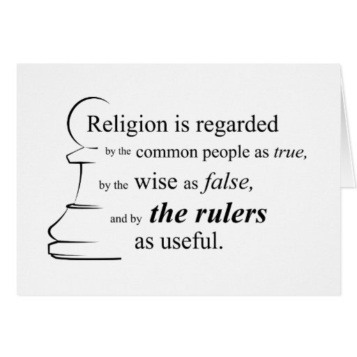 Religion is useful card