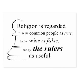Religion is useful postcards