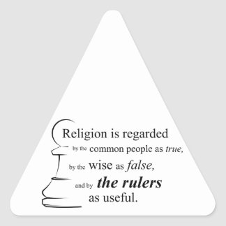 Religion is useful triangle stickers