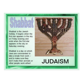 Religion,  Judaism, Shabbat Postcard