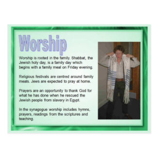 Religion,  Judaism, Worship Postcard
