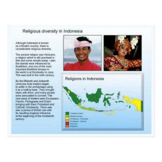 Religion, Religious diversity in Indonesia Postcard
