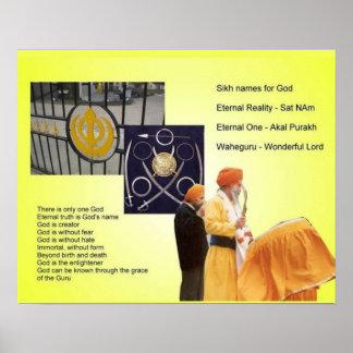 Religion, Sikhism, Names of God Poster