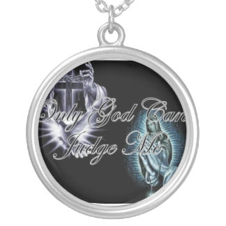 religion silver plated necklace