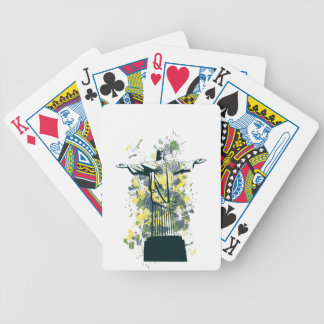 religion statue bicycle playing cards
