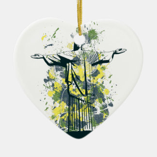 religion statue ceramic heart ornament