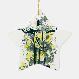 religion statue ceramic star ornament
