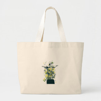 religion statue large tote bag