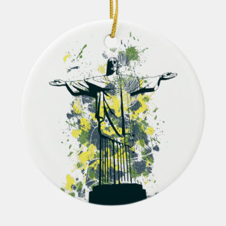 religion statue round ceramic ornament