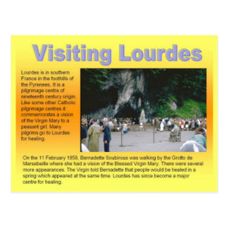 Religion, Visiting Lourdes Postcard