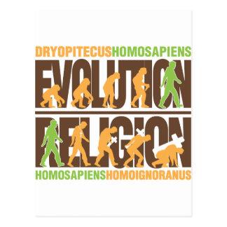 Religion Vs Evolution Postcard