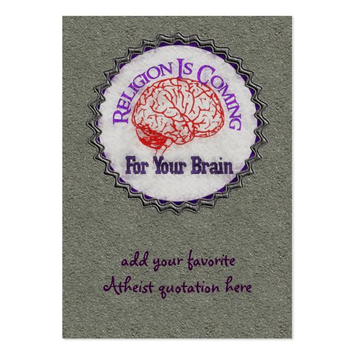 Religion Wants Your Brain Business Cards
