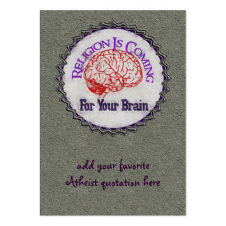 Religion Wants Your Brain Pack Of Chubby Business Cards