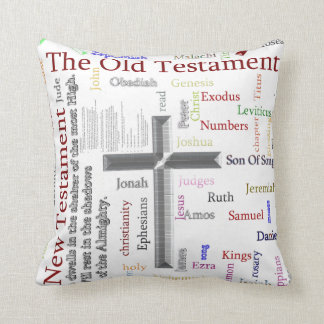 Religion Word tag concept illustration Throw Pillow