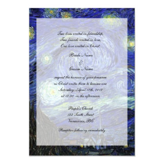 Religions, Christ wedding invitation, Starry Night Card