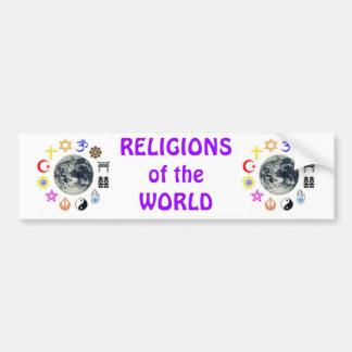 RELIGIONS of the WORLD Bumper Sticker
