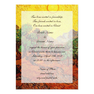 religions weddings,Vincent van Gogh Olive Trees Card