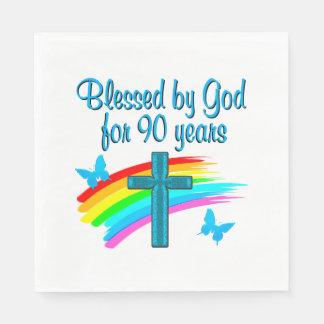 RELIGIOUS 90 YR OLD NAPKIN