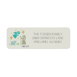 Religious address label with Biblical verse