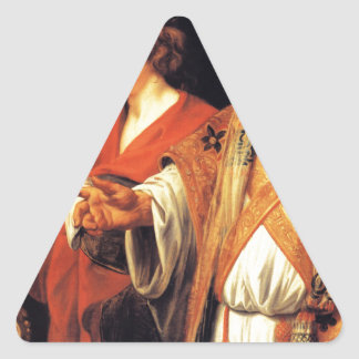 Religious allegory by Jacob Jordaens Triangle Sticker