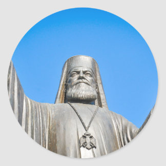Religious architecture in Athens, Greece Classic Round Sticker