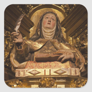 Religious art representing Santa Teresa Square Sticker