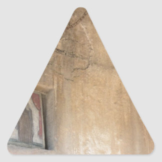 Religious Art Triangle Sticker
