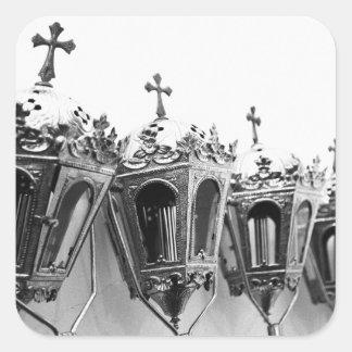 Religious artifacts square sticker