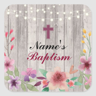 Religious Baptism Name Stickers Holy Cross Labels
