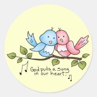 Religious Birdie sticker