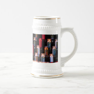 Religious Candles 18 Oz Beer Stein