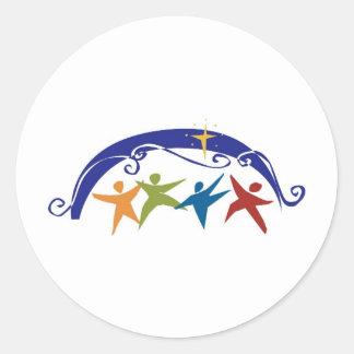 Religious Celebration People Round Sticker