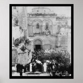 Religious Ceremony in Jerusalem 1880 Poster