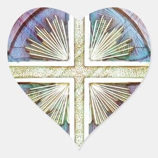 Religious christian cross symbol stickers