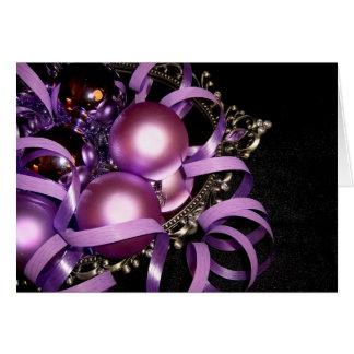 RELIGIOUS CHRISTMAS CARD PURPLE DECOR