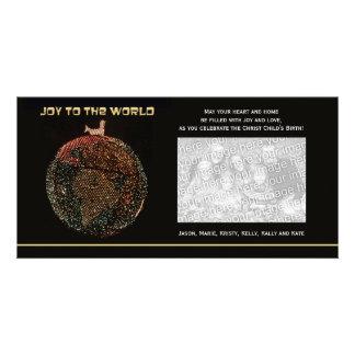 Religious Christmas Photo Card Joy to the World
